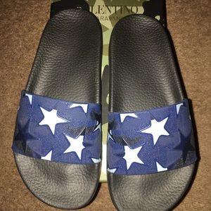 Shoes - Valentino camouflage slides